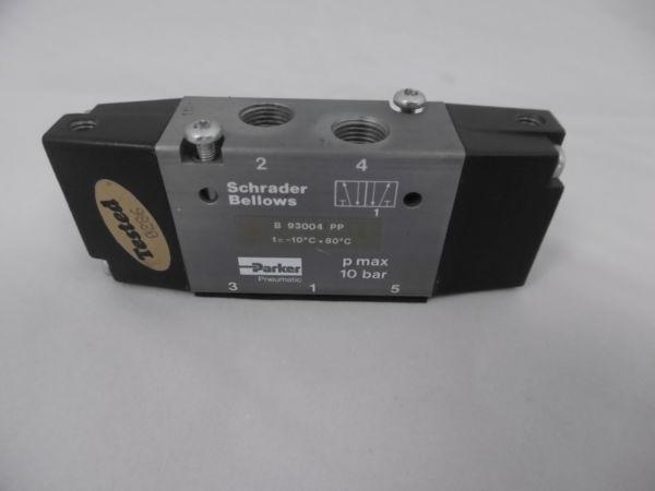 Schrader Bellows Parker B 93004 PP Pmax 10 Bar Pneumatic Valve
