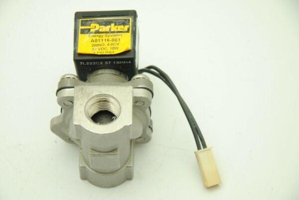 PARKER A01116-001, Pneumatic Solenoid Valve, 24VDC,10W, 5PSI, 3/4