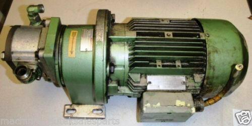 Siemens Rexroth Motor Pump Combo 1LA5090-4AA91 _E9F58_ No Z # _ 1LA50904AA91