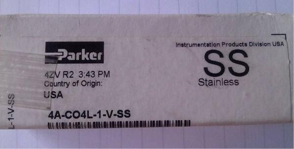 PARKER 4A-C04L-1-V-SS O-RING  POPPET CHECK VALVE - NEW.  Free Shipping