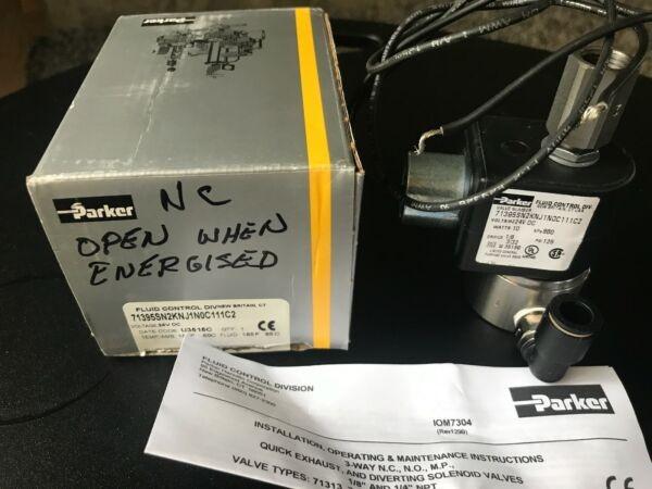 Parker Solenoid Valve parker 71395SN2KNJ1NOC111C2 ,appears New, Original box