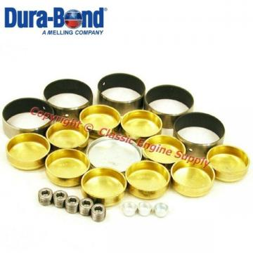 New Coated Performance Cam Bearings & Brass Freeze Plug Set sb Chevy 400
