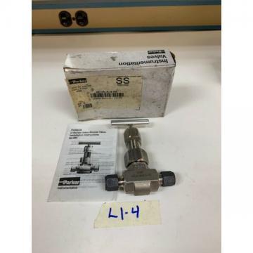 Parker Union Bonnet Valve 4Z-U6LR-G-SS Stainless *New*Fast Shipping!