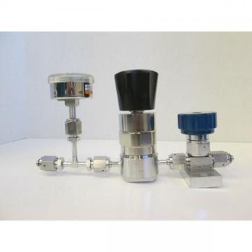 Veriflo Valve GH024310F Assy w/ gauge and parker valve